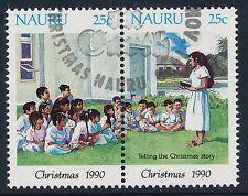 1990 NAURU CHRISTMAS SET OF 2 FINE USED/CTO
