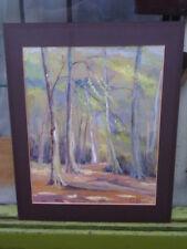 VINTAGE M HILTON paesaggio originale firmato dipinto ad Acquerello su carta