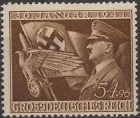 Stamp Germany Mi 865 Sc B252 1944 WWII Fascism Adolf Hitler Eagle Flag MNG