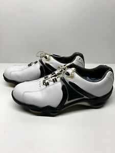 Foot Joy Dry Joys Turf master Black/White Leather Mens Size 8 Golf Shoe