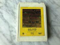 Alice Cooper School's Out 8-Track Tape 1972 Warner M82623 Public Animal #9 RARE!