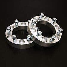 """2pc 1.25"""" Wheel Spacers - 6x5.5 to 6x5.5 - 12x1.5 Studs - for GMC Dodge Hummer"""