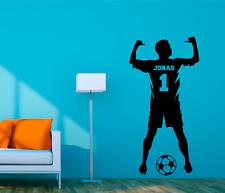 WD Wandtattoo Fußballer Fußball mit Wunschnamen Name Aufkleber Sticker 60cm