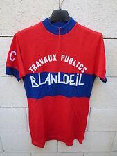 VINTAGE Maillot cycliste V.S.C CHECY TRAVAUX PUBLIC BLANLOEIL jersey 70's S
