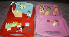 2 Playmobil Carry Case Sets - Vet Visit And Princess Vanity Mirror