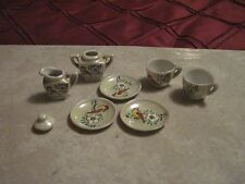 Doll Size Porcelain Tea Set Pieces..Made in Occupied Japan..8 pcs..