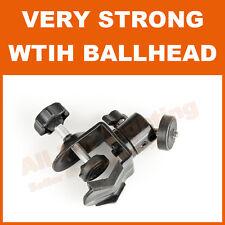 Metal C G Clamp with Ballhead Ball Head Joint Flash Strobe Bracket Mount