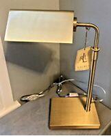 New Ralph Lauren Luxury Office Table Adjustable Brass Tone Banker Lamp