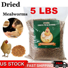 New listing 5 lbs Non-Gmo Dried Mealworms for Birds Chickens Hamster Fish Reptile Turtles