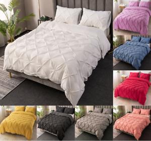 Duvet Cover Bedding Sets Microfiber Pillow Cases Home Decoration Bed Set Sheet