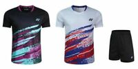 New Outdoor tennis sportswear men's clothing Badminton Tops T shirts +shorts