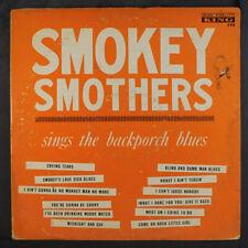SMOKEY SMOTHERS: Sings The Backporch Blues LP (tol, split seams, woc, light sta