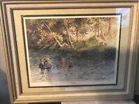 Sandy Lynam Clough Signed Numbered 11x14 Print #23 /1,000 A New Life Frame 21x17