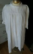 Antique! Pinstriped Cotton Gown Lace Collar for Composition & Baby Bisque Dolls
