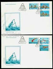 1983 Water Sports,water Polo,Rowing,canadian canoe,Diving,Romania,Mi.3972,FDC