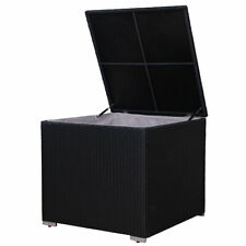 SVITA Auflagenbox Polyrattan Gartenbox Erweiterung Box LUGANO CALIFORNIA Schwarz