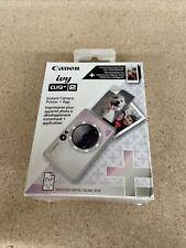 NEW- Canon Ivy Cliq + 2 Instant Film Camera + Photo Printer- Iridescent White