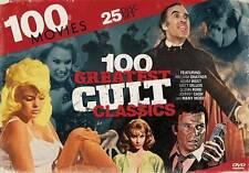 100 Greatest Cult Classics: 100 Movies (DVD, 2014, 25-Disc Set) - NEW!!