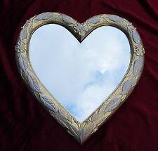 Wall Mirror Heart Mirror Heart Shape Baroque Gold White Love Gift New 88