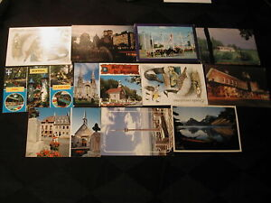 100 Mixed postcards - mostly all from Canada - 1980s - some unused from Venic...