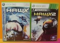 Tom Clancy HAWKX 1 + 2 H.A.W.X - XBOX 360 Games Rare Lot Tested Working