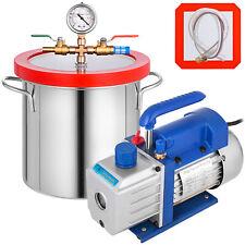 Pompe à Vide 50LT/min avec Chambre sous Vide 2 gallons Climatisation Electrique