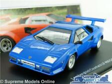 LAMBORGHINI COUNTACH LP 400 S MODEL CAR 1:43 SCALE BLUE IXO SUPER 1978 SPORTS K8