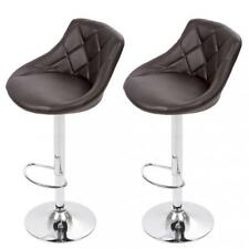 Bar Stool Adjustable Height Leather Bar Stools with Seat Back Pad,Set of 2, B52