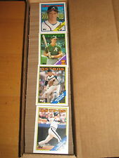 1988 Topps  Baseball  792  Card Set +  Box Bottom Cards A thru H