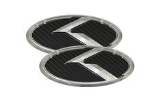 3D K Logo Emblem Carbon 2pc Front + Rear Fit: Hyundai Veloster , Veloster Turbo