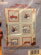 Bucilla Moving On Stamped Baby Quilt Blocks