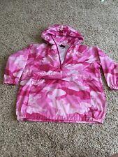 Girls Small Pink Camo Rain Jacket