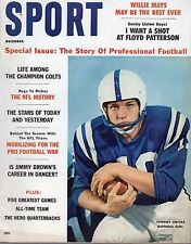 1960 (Dec) Sport Magazine Football,Johnny Unitas,Baltimore Colts,Willie Mays  EX