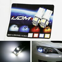 (2) HID White 5-SMD T10 LED Bulbs For Car Parking Position Lights, 2825 168 194