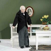 1:12 Puppenhaus Miniatur Porzellan Puppe Modell Old Servant Man Butler R5S4