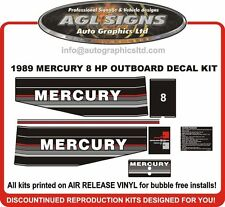 1989 1990 1991 MERCURY 8 hp Outboard decal set reproductions   6  9.9 15 hp also