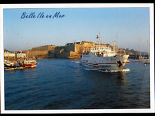 """BELLE-ILE-EN-MER (56) BATEAU-NAVETTE """"GUERVEUR"""" & BATEAU de PECHE en 2000"""
