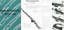 Ljungman c1960 Ag M42 Semi-Automatic Rifle Manual by IGAB Sweden