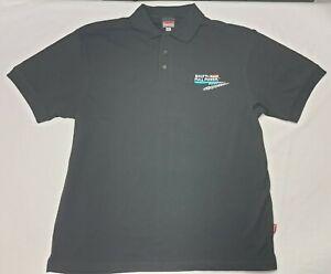 Makita Men's Black Polo Shirt - Size XL - Shift to Makita Full Power - Free Ship