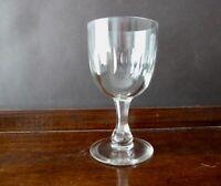 Antique Victorian Lens Cut Big Wine Glass Faceted Stem capacity 220ml h15cm