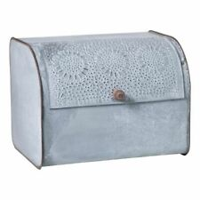 Farmhouse new BREAD BOX with Lid in Weathered Zinc Tin