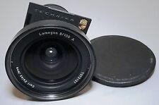 Carl Zeiss Jena Lamegon 100mm f8 Wide Lens Linhof Technika Board 4x5 5x7 Camera