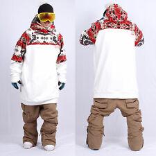 December long tall hoodie ski snowboard-Ga white
