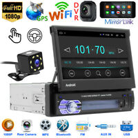 1DIN Car Stereo MP5 Player 7inch Android 10.1 7inch Wifi GPS  Navi FM Radio+Cam