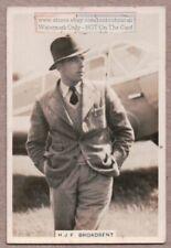 Australian Air Racing Pilot H.F. Broadbent Flying Aircraft 1930s Trade Card