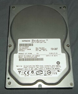 HITACHI DESKSTAR 7200 RPM 160 GB 3.5 SATA DESKTOP HARD DRIVE HDD -TESTED WORKING