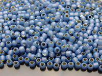 250g 2102 Silver Lined Milky Montana Blue Toho Seed Beads 6/0 4mm WHOLESALE