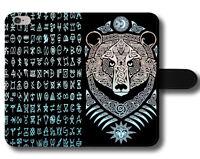 Bear Claws Odin Thor Vikings Gods Mythology Magnetic Leather Phone Case Cover