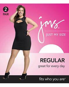 Just My Size Smooth Finish Women`s Regular Sheer Toe Panty Hose