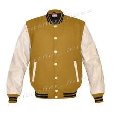 Faux Leather Sleeve Letterman College Varsity Women Wool Jackets #CRS-BSTR-CB-FL